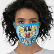 WW84 | Retro Comic Wonder Woman Character Badge Face Mask