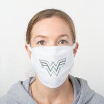 WW84   RGB Split Wonder Woman Logo White Cotton Face Mask