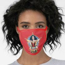 WW84 | Save The Day Wonder Woman Retro Comic Art Face Mask