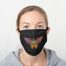 WW84 | Wonder Woman Kaleidoscope Logo Black Cotton Face Mask