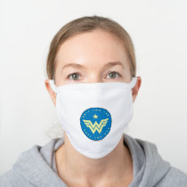 WW84 | Wonder Woman Only You Can Save The Day White Cotton Face Mask