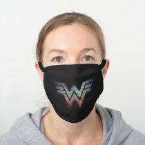 WW84 | Wonder Woman TV Static Logo Black Cotton Face Mask