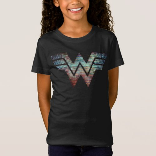 WW84  Wonder Woman TV Static Logo T_Shirt