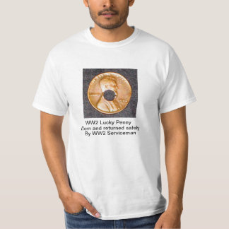 WW 2 Lucky Penny T-shirt, 1-sided Tee Shirt