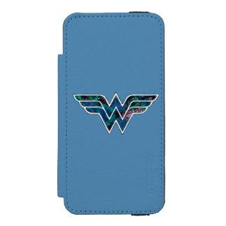 WW color de rosa azul Funda Billetera Para iPhone 5 Watson