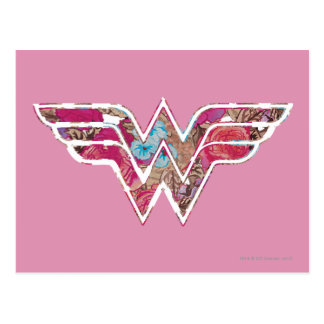 WW color de rosa rosado Tarjeta Postal