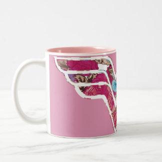 WW color de rosa rosado Taza