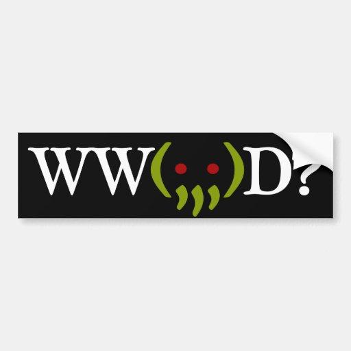 ¿WW Cthulhu hacen? pegatina v2 Etiqueta De Parachoque