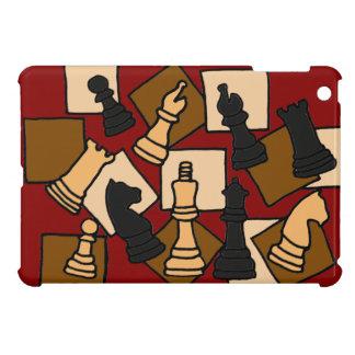 WW- el juego de ajedrez junta las piezas de arte iPad Mini Protectores