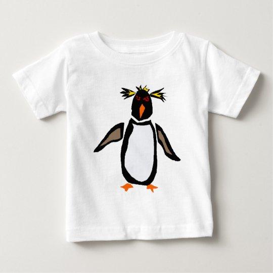 WW- Funny Rockhopper Penguin Primitive Art Baby T-Shirt