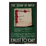 """WW I Poster The """"Scrap Of Paper"""""""