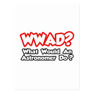 WWAD...What Would an Astronomer Do? Postcard