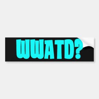 WWATD? BUMPER STICKER