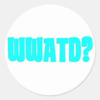 WWATD? CLASSIC ROUND STICKER
