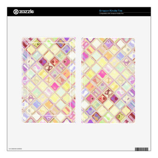 WWB pastel mosaic glass tiles skin for readers Kindle Fire Skin