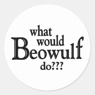 WWBD - Beowulf Classic Round Sticker