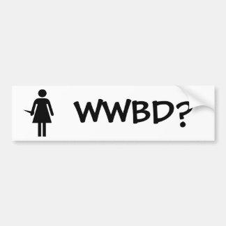 WWBD? CAR BUMPER STICKER