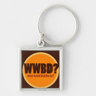 WWBD Silver-Colored SQUARE KEYCHAIN