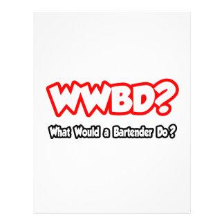 ¿WWBD… qué un camarero haría? Tarjetas Publicitarias