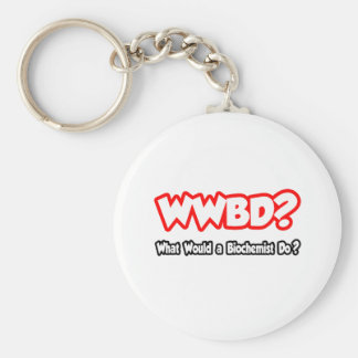 WWBD...What Would a Biochemist Do? Basic Round Button Keychain