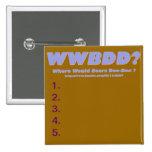 ¿WWBDD? ¿Donde doo-doo de los osos? Pins