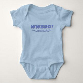 WWBDD? Where would bears doo-doo? Baby Bodysuit