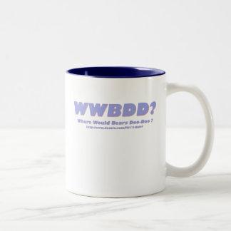 WWBDD? Where would bears doo-doo? Two-Tone Coffee Mug