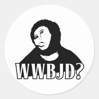 WWBJD? - What would Beast Jesus Do? Classic Round Sticker