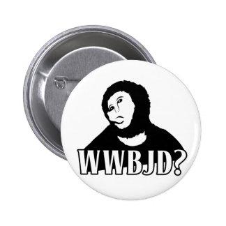 WWBJD? - What would Beast Jesus Do? Pinback Button