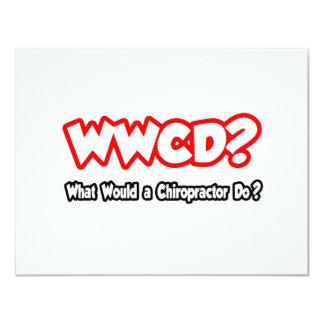 """¿WWCD… qué un Chiropractor haría? Invitación 4.25"""" X 5.5"""""""