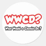 ¿WWCD… qué un químico haría? Pegatina Redonda