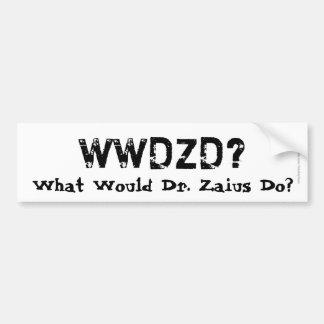 WWDZD? What Would Dr. Zaius Do? Car Bumper Sticker