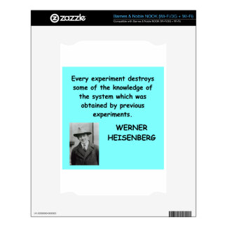 Wwerner Heisenberg quote Decal For NOOK