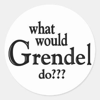 WWGD - Grendel Pegatina Redonda