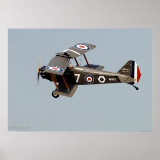 WWI Biplane Poster