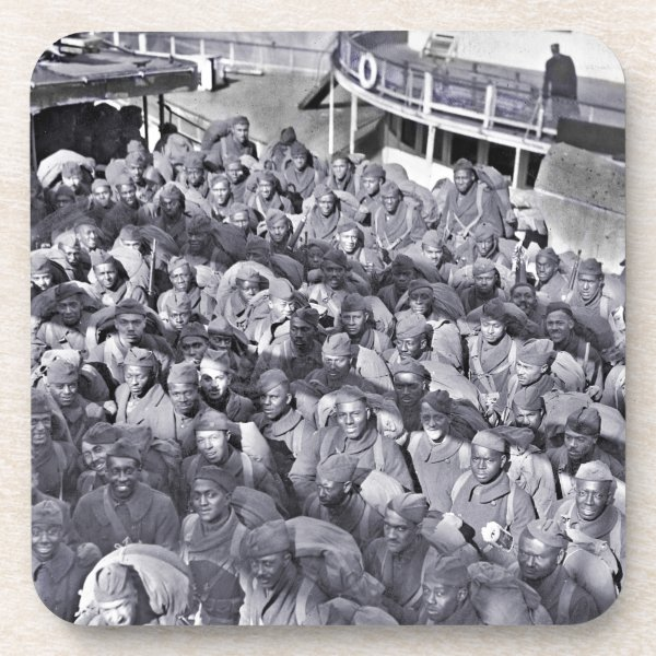 WWI Black Soldiers on Transport Ship Coaster