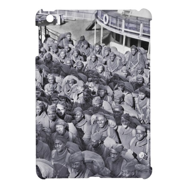 WWI Black Soldiers on Transport Ship iPad Mini Case
