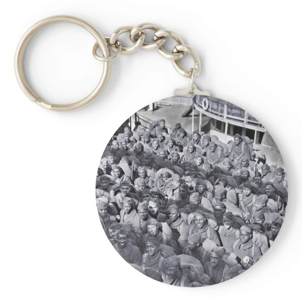 WWI Black Soldiers on Transport Ship Keychain
