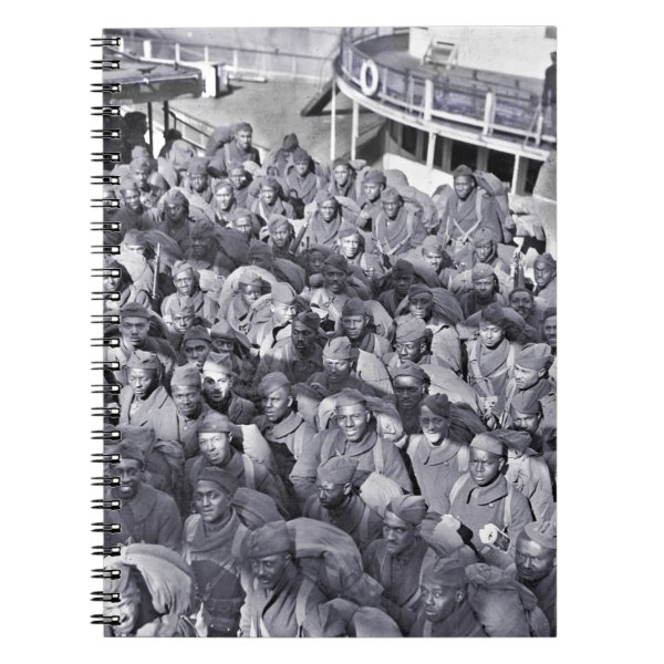 WWI Black Soldiers on Transport Ship Notebook