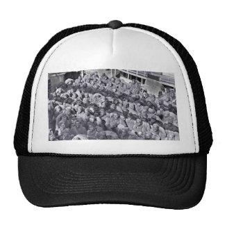 WWI Black Soldiers on Transport Ship Trucker Hat