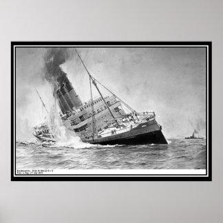 WWI envía el poster de la foto del vintage Póster