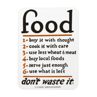 "WWI ""Food—Don't Waste It"" Magnet"