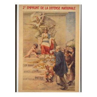 WWI French 2nd National Defense Loan Postcard