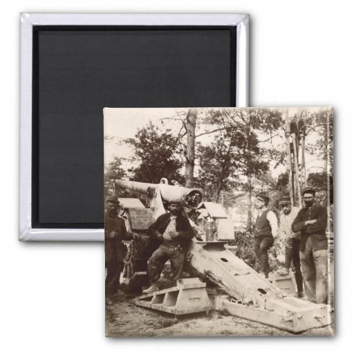 WWI French Artillery Unit 2 Inch Square Magnet
