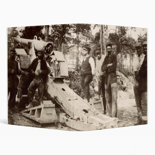 WWI French Artillery Unit Vinyl Binder