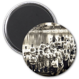 WWI French Engineers at Grenoble 2 Inch Round Magnet