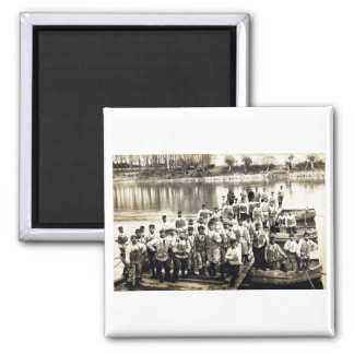 WWI French Engineers at Grenoble 2 Inch Square Magnet