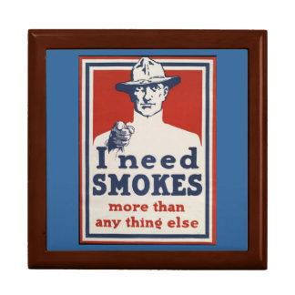 WWI fuma el poster Stashbox Cajas De Regalo