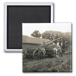 WWI German Anti-Aircraft Battery 2 Inch Square Magnet