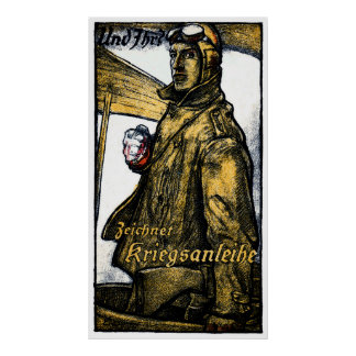 WWI German Aviation War Bond Poster